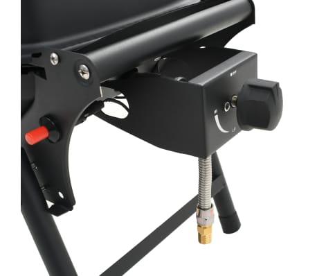 vidaXL Barbecue e Griglia a Gas Portatile con Fornello Nero[9/12]