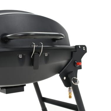 vidaXL Gasbarbecue met kookzone zwart[11/12]