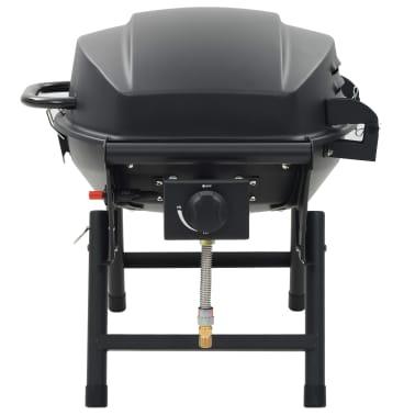 vidaXL Barbecue e Griglia a Gas Portatile con Fornello Nero[5/12]