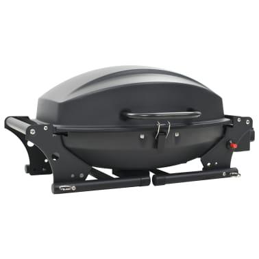 vidaXL Gasbarbecue met kookzone zwart[8/12]