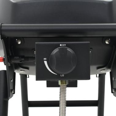 vidaXL Barbecue e Griglia a Gas Portatile con Fornello Nero[10/12]