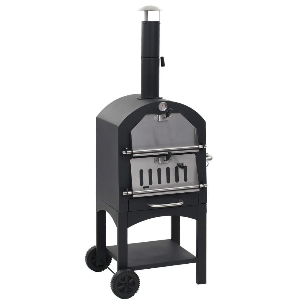 vidaXL Venkovní pec na pizzu na dřevěné uhlí s kamenem