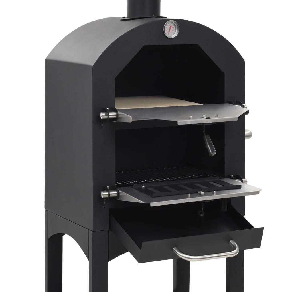 vidaXL Pizzaoven op houtskool met terracotta pizzasteen