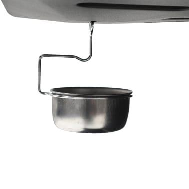 vidaXL Barbecue Griglia a Gas con 6 Fornelli Acciaio Nero[6/6]