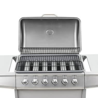 vidaXL Barbecue Griglia a Gas 6 Fornelli Acciaio Inossidabile Argento[8/10]
