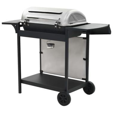 vidaXL Barbecue Griglia a Gas 6 Fornelli Acciaio Inossidabile Argento[5/10]