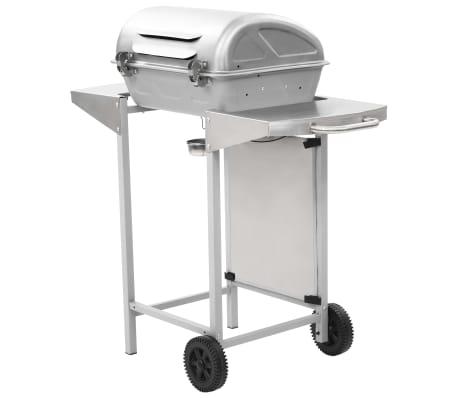vidaXL Barbecue a Gas con Griglia 2 Fornelli Argento Acciaio Inox[6/10]