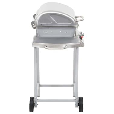 vidaXL Barbecue a Gas con Griglia 2 Fornelli Argento Acciaio Inox[5/10]