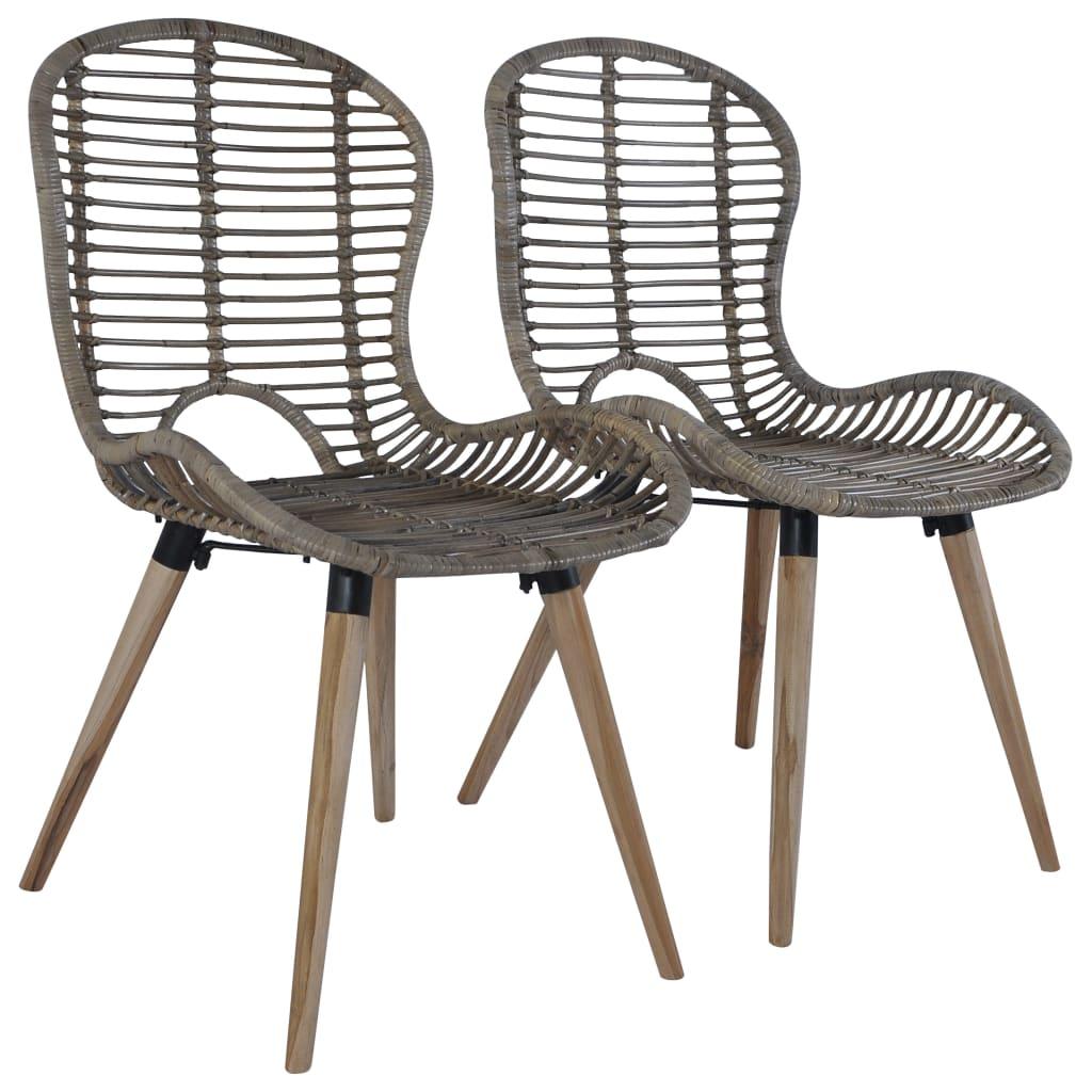 Stohovatelné zahradní židle 2 ks přírodní ratan hnědé