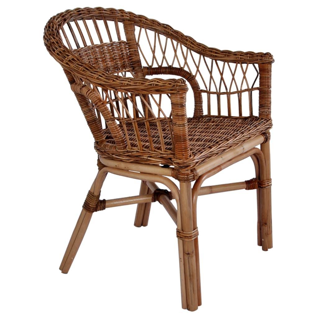 Zahradní židle přírodní ratan hnědé