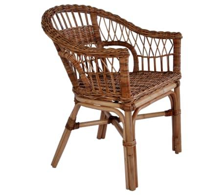 vidaXL Outdoor Chair Natural Rattan Brown