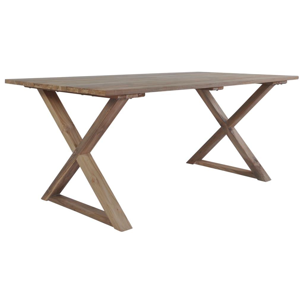 vidaXL Jídelní stůl z masivního recyklovaného teaku 180 x 90 x 76 cm