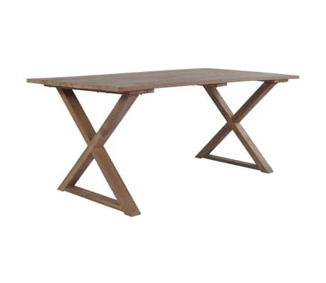 vidaXL Table de salle à manger Teck de récupération 180x90x76 cm ...