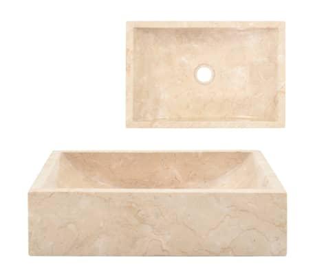 vidaXL Sink 45x30x12 cm Marble Cream