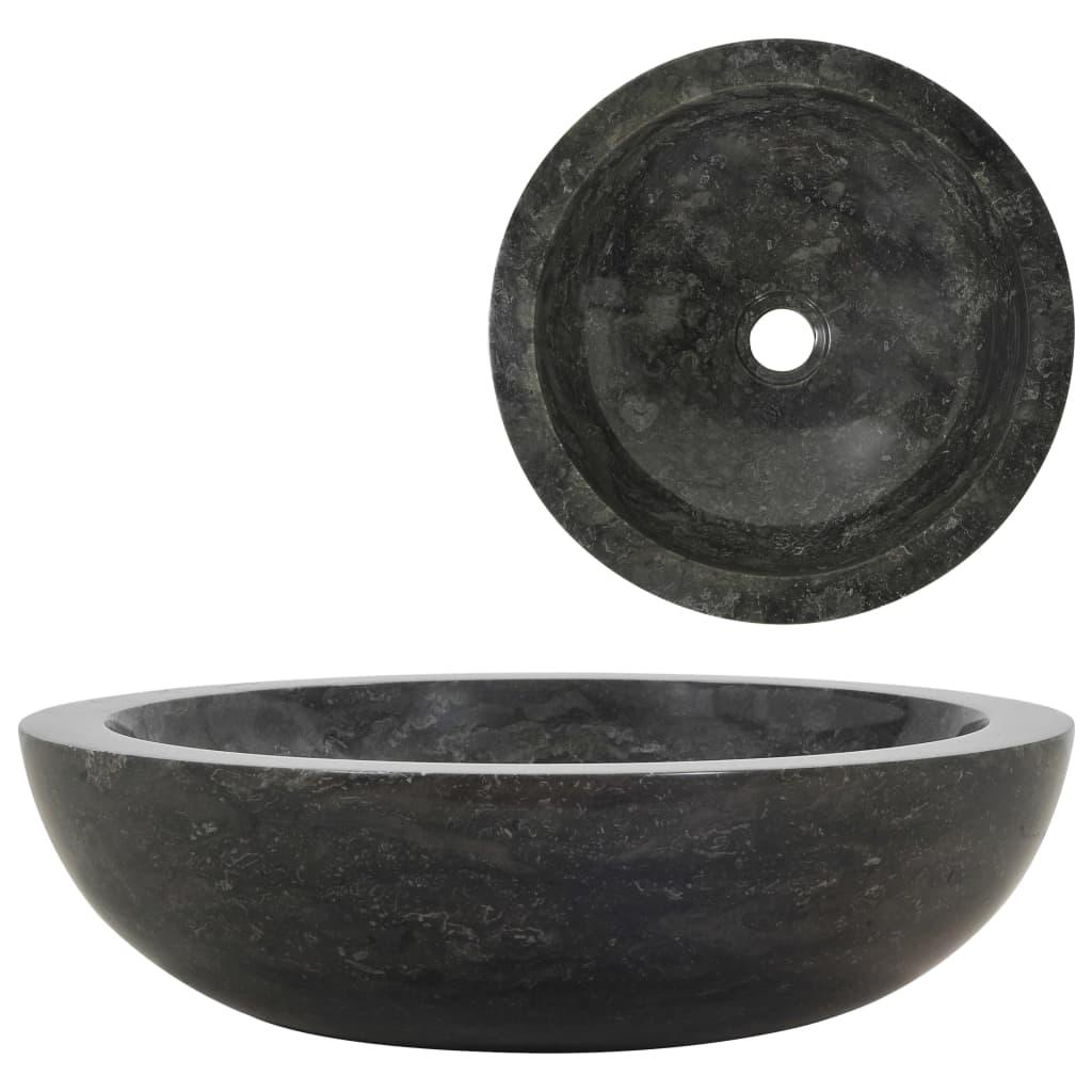 vidaXL Chiuvetă, negru, 40 x 12 cm, marmură vidaxl.ro