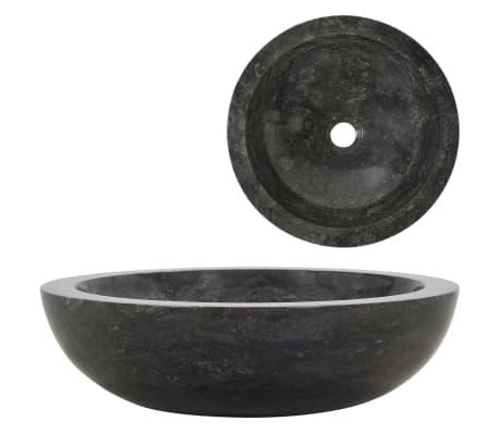 vidaXL Umyvadlo 40 x 12 cm mramor černé