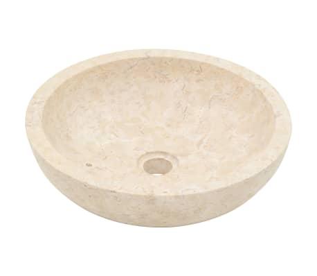 vidaXL Lavabo 40x12 cm mármol color crema[2/7]