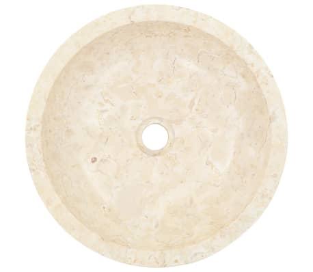 vidaXL Lavabo 40x12 cm mármol color crema[4/7]