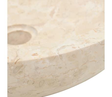 vidaXL Lavabo 40x12 cm mármol color crema[6/7]