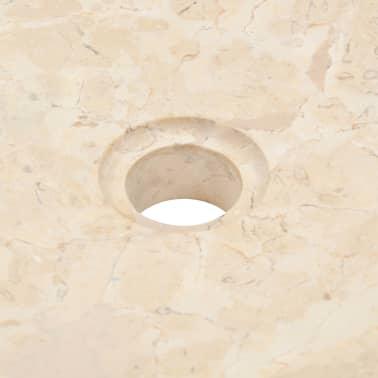 vidaXL Lavabo 40x12 cm mármol color crema[7/7]