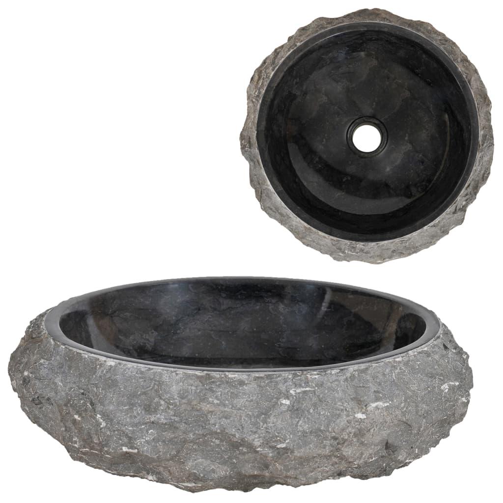 vidaXL Chiuvetă, negru, 40 x 12 cm, marmură poza vidaxl.ro