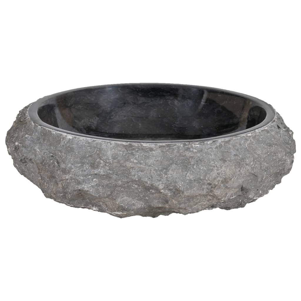 vidaXL Gootsteen 40x12 cm marmer zwart