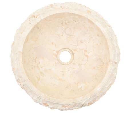 vidaXL Umyvadlo 40 x 12 cm mramor krémové[4/7]