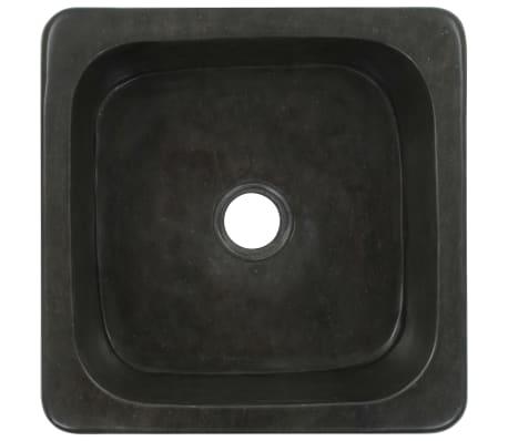 vidaXL Umývadlo 30x30x15 cm, riečny kameň, čierne[4/7]
