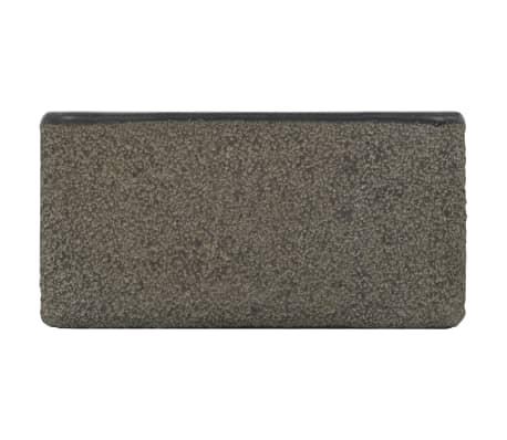 vidaXL Umývadlo 30x30x15 cm, riečny kameň, čierne[5/7]