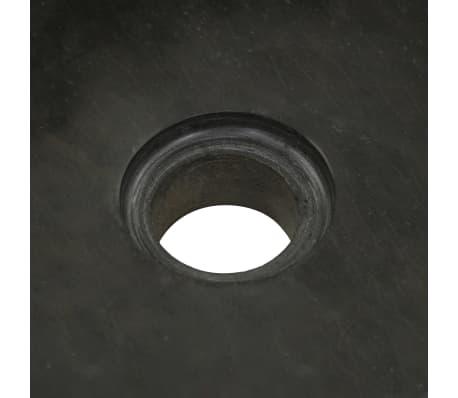 vidaXL Umývadlo 30x30x15 cm, riečny kameň, čierne[7/7]