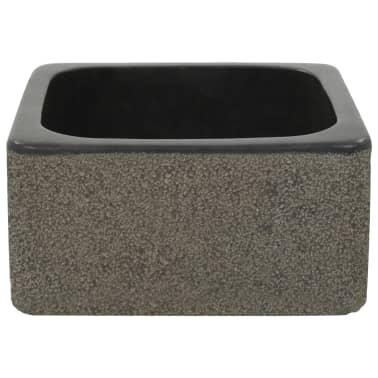 vidaXL Umývadlo 30x30x15 cm, riečny kameň, čierne[3/7]