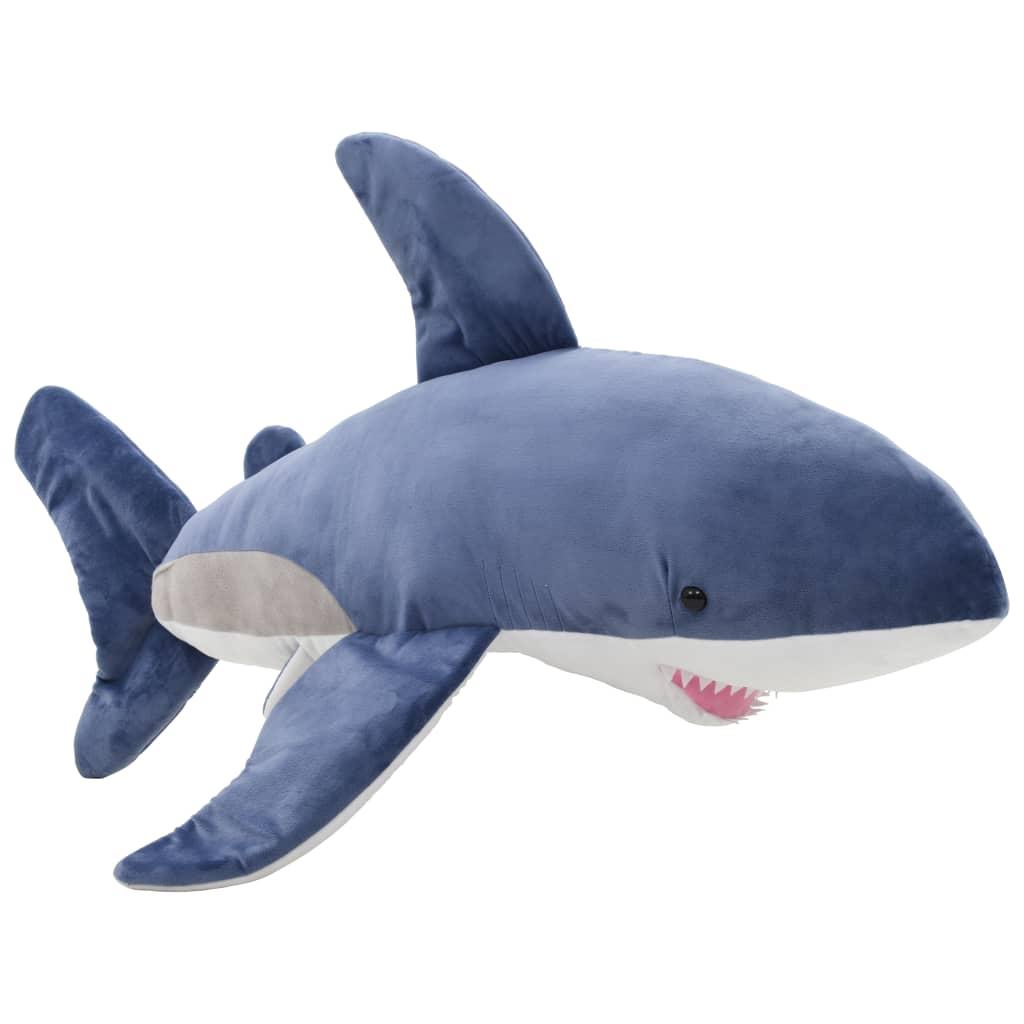 vidaXL Bílý žralok plyšová hračka modrobílý