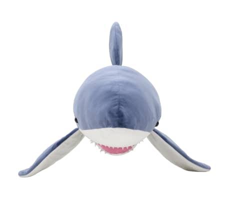 vidaXL Tiburón blanco de peluche azul y blanco[3/5]