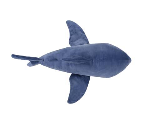 vidaXL Tiburón blanco de peluche azul y blanco[4/5]