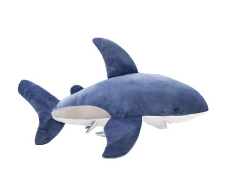 vidaXL Pluszowy rekin biały przytulanka, niebiesko-biały[2/5]