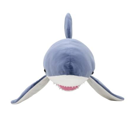 vidaXL Pluszowy rekin biały przytulanka, niebiesko-biały[3/5]