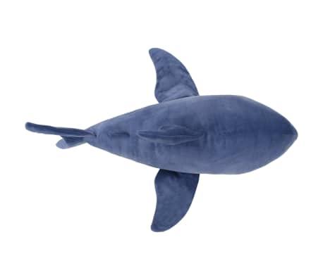 vidaXL Pluszowy rekin biały przytulanka, niebiesko-biały[4/5]