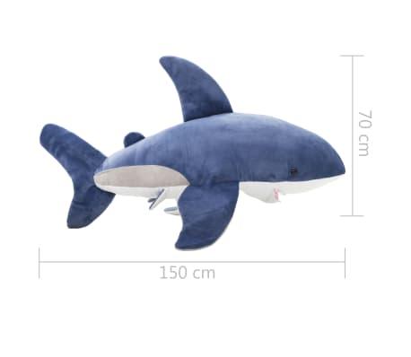 vidaXL Pluszowy rekin biały przytulanka, niebiesko-biały[5/5]