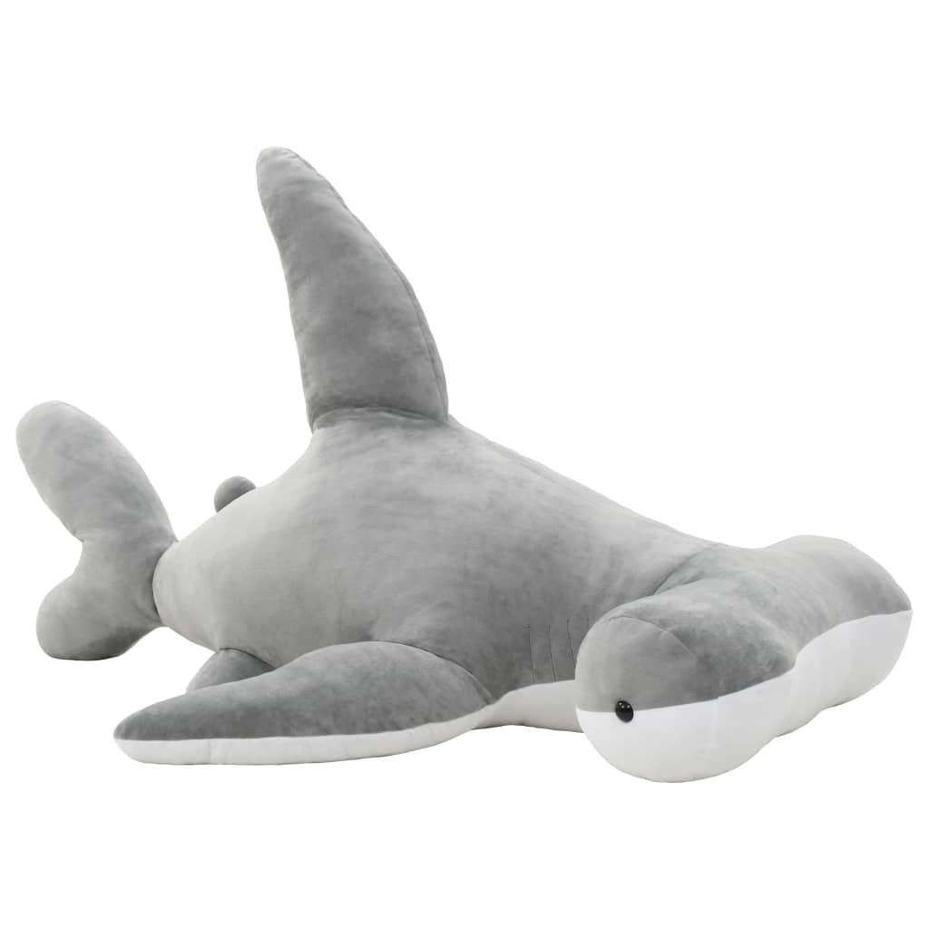 Plyšový žralok kladivoun k mazlení šedý