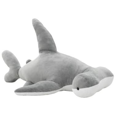 vidaXL Pluszowy rekin młot przytulanka, szary[1/5]