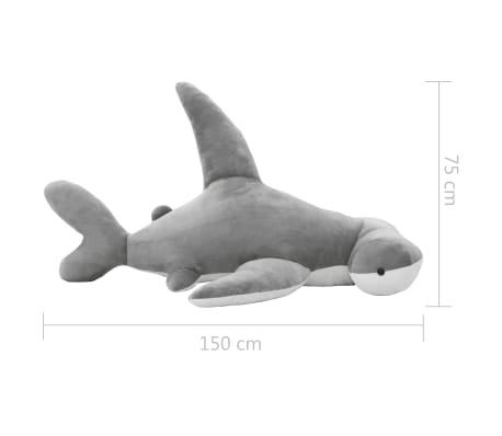 vidaXL Pluszowy rekin młot przytulanka, szary[5/5]