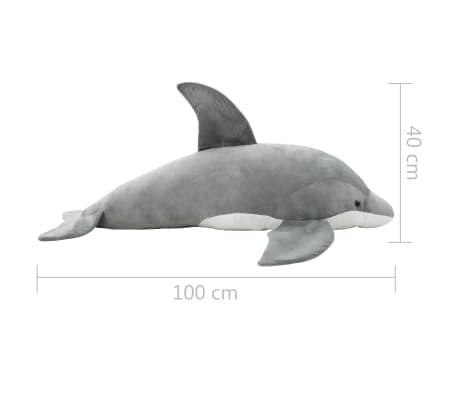 vidaXL Minkštas žaislinis delfinas, pilkas, pliušinis[5/5]