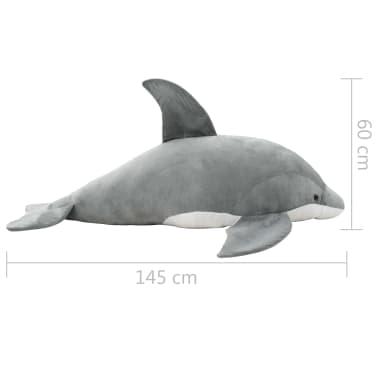 vidaXL Pluszowy delfin przytulanka, szary[5/5]