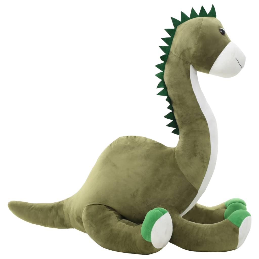 vidaXL Jucărie dinozaur Brontosaurus, verde, pluș vidaxl.ro
