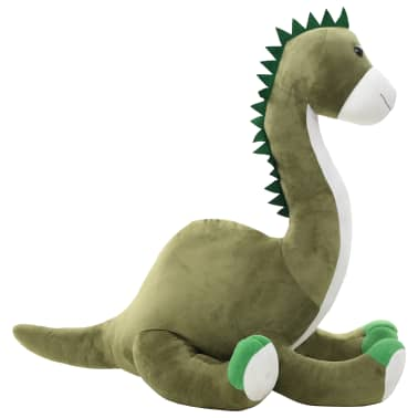 vidaXL Lekebrontosaurus i plysj grønn[1/6]