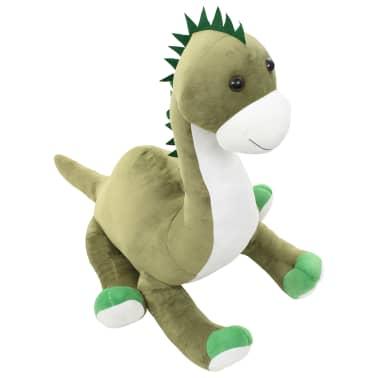 vidaXL Lekebrontosaurus i plysj grønn[3/6]