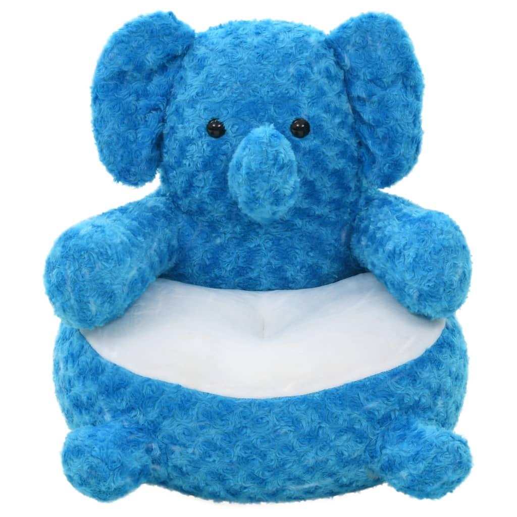 vidaXL Plyšový slon k mazlení modrý