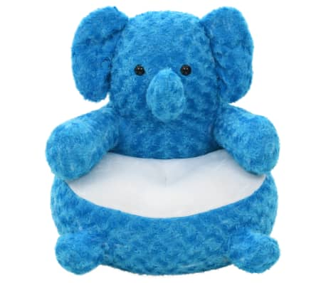 vidaXL Elephant Cuddly Toy Plush Blue