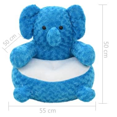 vidaXL kék elefánt plüssjáték[4/4]