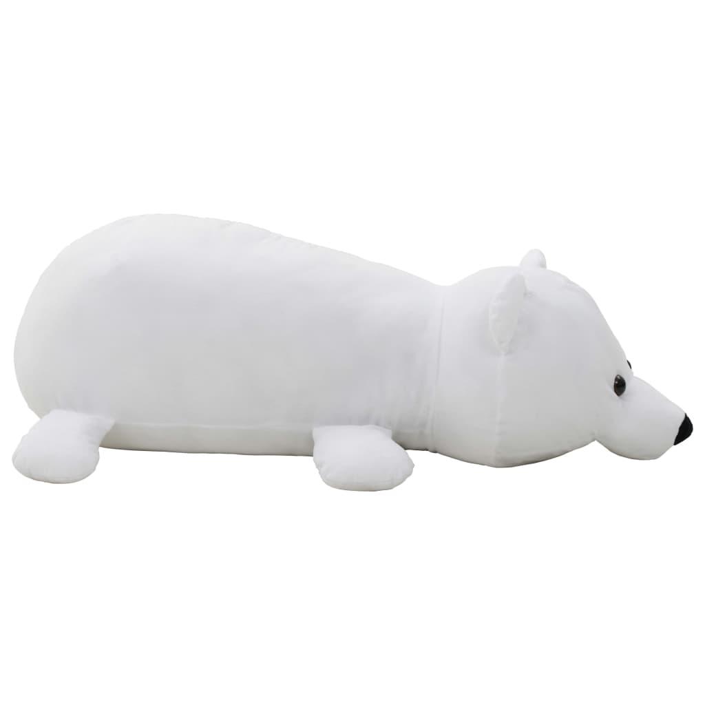 vidaXL Lední medvěd plyšová hračka bílý
